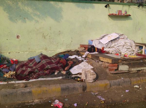 A South Delhi street scene